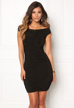 Chiara Forthi Mileen Ruched Dress Black Bubbleroom.no