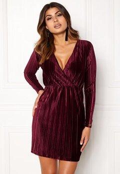 Chiara Forthi Mirelle Velvet  Dress Dark wine-red Bubbleroom.no