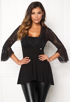 Chiara Forthi Monelli Lace Top Black Bubbleroom.no