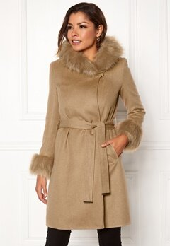 Chiara Forthi Monterosso Fur Coat Camel Bubbleroom.se