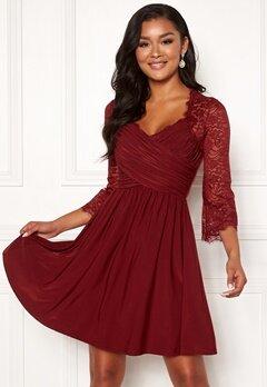 Chiara Forthi Nathalia Dress Wine-red Bubbleroom.se