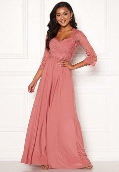 Chiara Forthi Nathalia Maxi Dress Dark pink bubbleroom.se