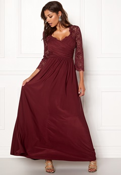 Chiara Forthi Nathalia Maxi Dress Wine-red Bubbleroom.se