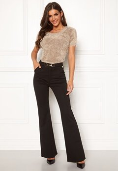 Chiara Forthi Nicola boot cut pants Black Bubbleroom.se