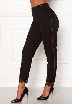 Chiara Forthi Nikita Lace Pants Black Bubbleroom.se