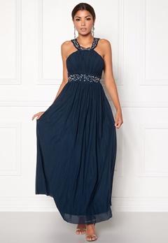 Chiara Forthi Noemi Open-back Prom Gown Dark blue / Silver Bubbleroom.se