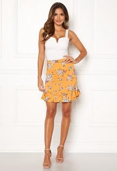 Chiara Forthi Nunzia frill jersey skirt  Yellow / Floral Bubbleroom.se