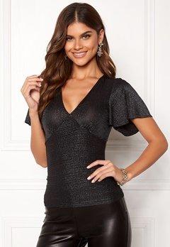 Chiara Forthi Nunzia sparkle top Black / Silver Bubbleroom.se