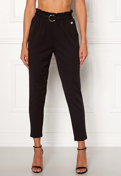Chiara Forthi Paperbag Belt Pantaloni Black Bubbleroom.se