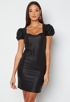 Chiara Forthi Picciana PU Puff sleeve Dress Black bubbleroom.se