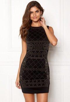 Chiara Forthi Portia studded dress Black / Gold Bubbleroom.se