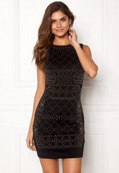 Chiara Forthi Portia studded dress Black Bubbleroom.se