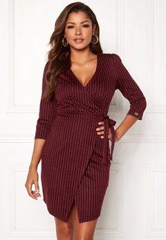 Chiara Forthi Portia suit dress Wine-red / Striped Bubbleroom.se