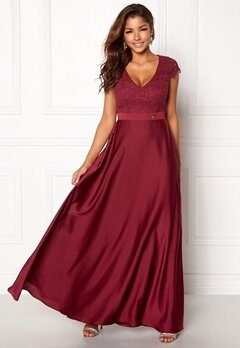 Chiara Forthi Princess Gown Bordeaux Bubbleroom.se
