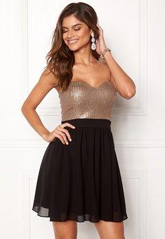 Chiara Forthi Reese sequin dress Black / Rose gold Bubbleroom.se