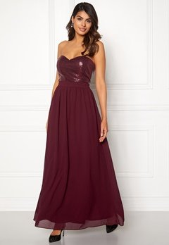 Chiara Forthi Reese sequin gown Wine-red Bubbleroom.se