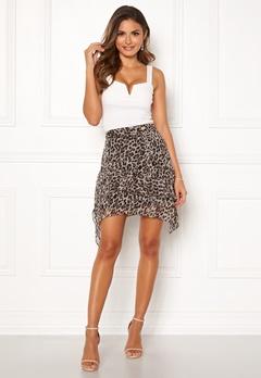 Chiara Forthi Renata Flounce Skirt Leopard Bubbleroom.se