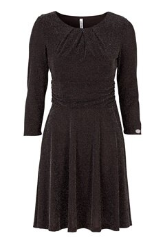 Chiara Forthi Rianne Lurex Dress Black / Silver Bubbleroom.no