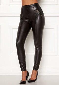 Chiara Forthi Rivalta faux leather pants Black Bubbleroom.se