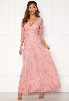 Chiara Forthi Riveria Lace Gown Dusty pink Bubbleroom.se