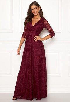 Chiara Forthi Riveria Lace Gown Wine-red bubbleroom.se