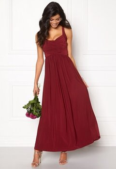 Chiara Forthi Rochelle Maxi Dress Bordeaux Bubbleroom.no