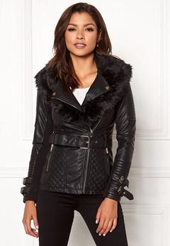 Chiara Forthi Roma Fake Leather Jacket Black Bubbleroom.se