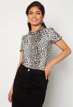Chiara Forthi Romea ss puff top Leopard Bubbleroom.se