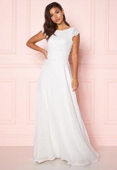 Chiara Forthi Rosanne pearl gown White Bubbleroom.se