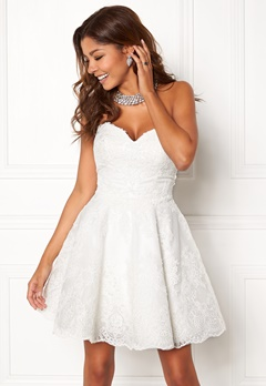 Chiara Forthi Rosetta Prom Gown White Bubbleroom.se