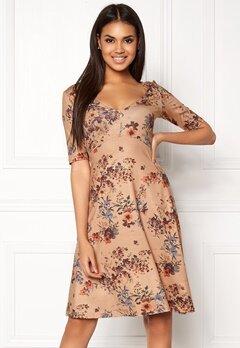Chiara Forthi Saba Deep V-neck Dress Beige / Floral Bubbleroom.fi