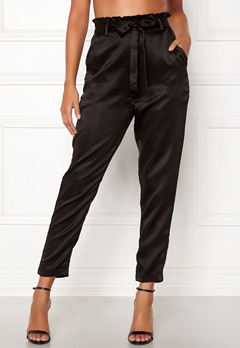 Chiara Forthi Sania paperbag pants Black Bubbleroom.se