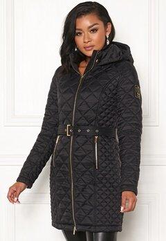 Chiara Forthi Sarraceno Quilted Fur Jacket Black Bubbleroom.se