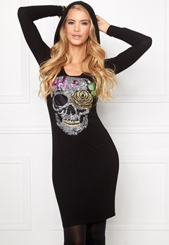 Chiara Forthi Scull N Roses Top Black Bubbleroom.no
