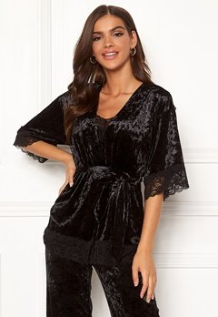 Chiara Forthi Sentiera Lace Kimono Black Bubbleroom.se