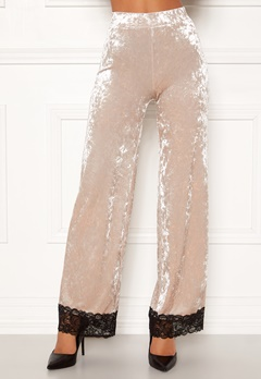 Chiara Forthi Sentiera Lace Pants Light beige Bubbleroom.se