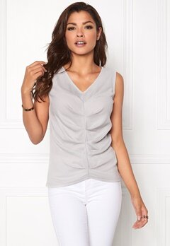 Chiara Forthi Sleeveless Pleated Top Light mole Bubbleroom.se