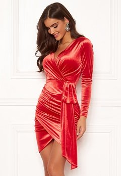 Chiara Forthi Snapshot Drape Dress Red Bubbleroom.se