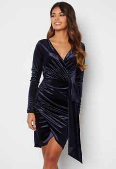Chiara Forthi Snapshot Drape Dress Midnight blue bubbleroom.se