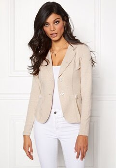 Chiara Forthi Soft As Cashmere  Jersey suit jacket Sand Bubbleroom.eu
