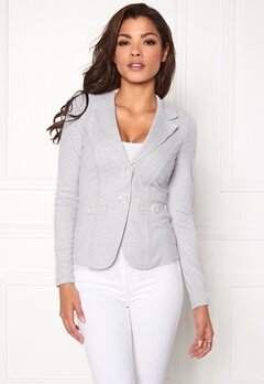 Chiara Forthi Soft As Cashmere  Jersey suit jacket Grey melange Bubbleroom.eu