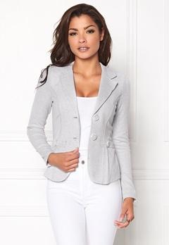 Chiara Forthi Soft As Cashmere  Jersey dressjakke Gråmelert Bubbleroom.no
