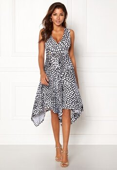 Chiara Forthi Solitude Highlow Dress Black / White Bubbleroom.se