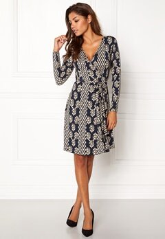 Chiara Forthi Sonnet Mini Wrap Dress Blue / Beige Bubbleroom.se