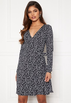Chiara Forthi Sonnet Mini Wrap Dress Navy / Offwhite Bubbleroom.se