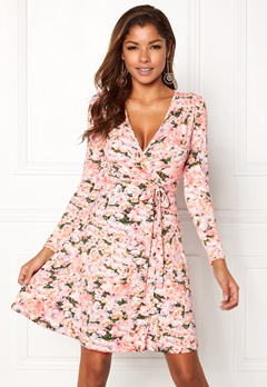 Chiara Forthi Sonnet Mini Wrap Dress Pink / Floral Bubbleroom.fi