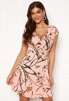 Chiara Forthi Sonnet Mini Wrap Dress s/s Pink / Floral Bubbleroom.se