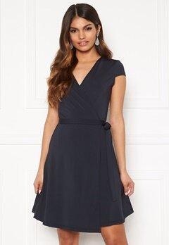 Chiara Forthi Sonnet Mini Wrap Dress s/s Dark blue Bubbleroom.se