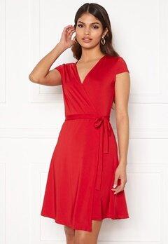 Chiara Forthi Sonnet Mini Wrap Dress s/s Red Bubbleroom.se