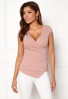 Chiara Forthi Soprano Wrap Top Light pink Bubbleroom.se